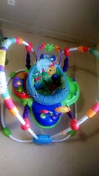 baby's green and blue jumperoo Lubbock, 79403