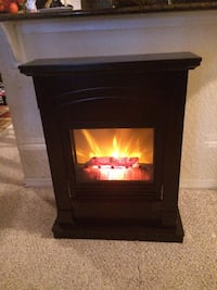 Small Brown Electric Fireplace Orlando