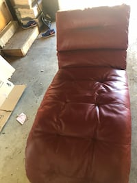 Red Leather Chaise  Centennial, 80122