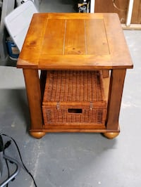 Wooden end table with storage basket  East Bridgewater, 02333