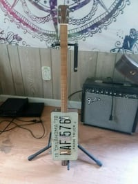Handmade cigar box electric guitar Asheville