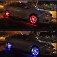 4 kit wheel hub lights with remote controller