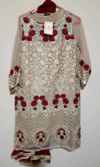 white and red floral long sleeve dress Brampton, L7A 0B2