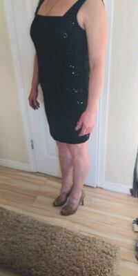 Sequin black party dress