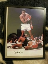 Mohammed Ali authentic signed picture. Visalia