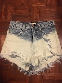 women's gray and white distressed denim shorts Vaughan, L4H 1H9