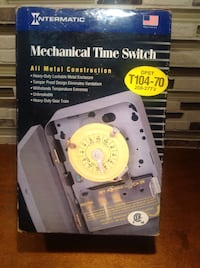 Intermatic T104-70 24 Hour Mechanical Time Switch Bolton, L7E 1X7