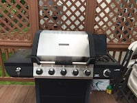 1.5 year old BBQ 5 burners plus a side burners for major cookouts. Upgrading to a smoker this summer. Fully assembled and will help deliver nearby if needed but you will need your own truck or car that can fit it Germantown, 20876
