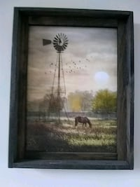 brown wooden framed painting of house Hamilton, L8E 1J7