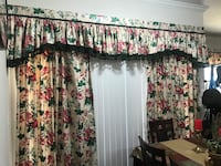 white and pink floral window curtain Austin, 78660