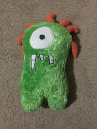 green cyclops monster plush toy