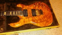 brown Stratocaster guitar