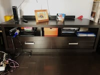 TORONTO - brown wooden desk with hutch Vaughan