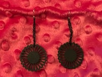 Wooden and chain flower earrings Colorado Springs, 80910