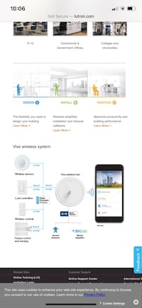 Lutron vive wireless system . Control your lights from phone