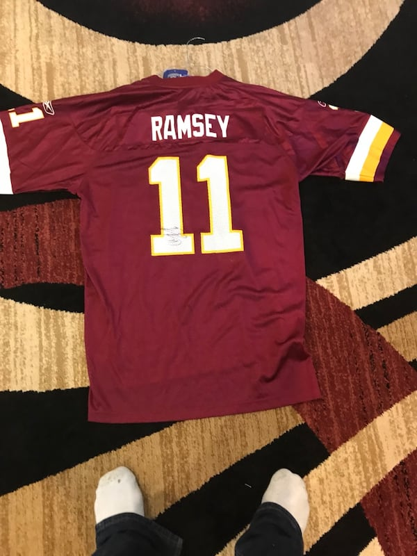 Red and white redskins 11 jersey shirt 50bd4511-9801-40ee-a396-c3a6cfa2fb41