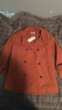 Orange double-breasted coat Kitchener, N2H 5V6