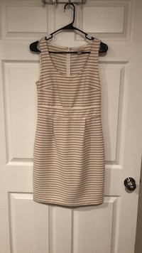 women's white and pink stripe sleeveless dress Silver Spring, 20904