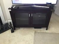 black wooden TV stand with cabinet Gambrills, 21054