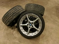 """18"""" BMW Style 108 staggered wheels with tires East Haven, 06512"""