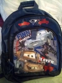 black and blue Disney Pixar Cars backpack Ranson, 25438