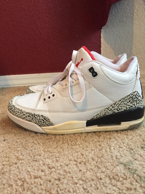 best service d83c2 7b7f9 2003 Air Jordan 3 'White Cement' size 11