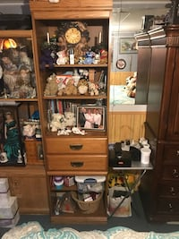 brown wooden cabinet with shelf New Tecumseth, L9R 1K5