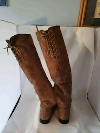 Brown suede knee high boots Ellicott City, 21043