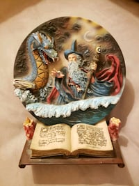 Decorative 3D Wizard Plate and Book Stand Portland, 97220