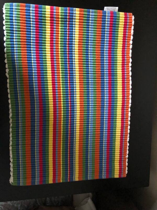 3 multicolored placemats 18 1/2x13 1/2 all 3 for $2 b4d67743-bcf8-4926-8563-01bc9a17e5dd