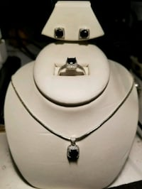 Sterling Silver and Onyx set