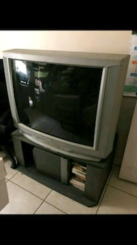 gray CRT TV with stand Pharr, 78577