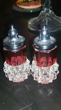 Antique cranberry glass salt & Pepper shakers Calgary, T3K 0C5
