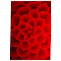 Rose Tufted Red Rug