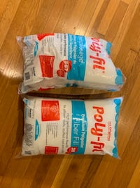 2 bags of poly fill batting