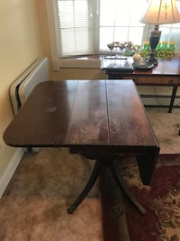 Antique Wood Table Drop Leaf.  Would make a great refinish piece.   Woodbridge, 07095