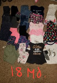 Lot 18 month size girl clothes