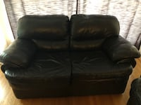 black leather 2-seat sofa - NEEDS TO GO ASAP Mississauga, L5J 2E9