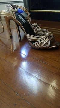 gold and black open-toe heels Hartford, 06112