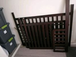 Crib with toddler rail  make me a offer