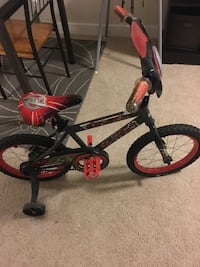Toddler's black and red bicycle with training wheels Silver Spring, 20901
