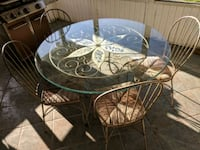 Glass top table and chairs(4) Saint Petersburg, 33703