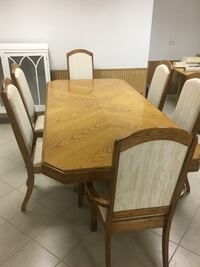 brown wooden dining table set Naperville, 60565
