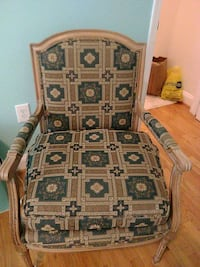 brown and black floral padded sofa chair Silver Spring, 20906