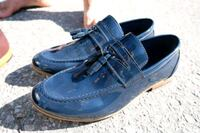 pair of blue leather loafers Kitchener, N2B 2P8