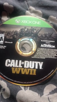 Call of duty World War Two xbox one game disc Toronto, M9L 2E6