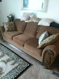 brown suede 3-seat sofa New London, 54961
