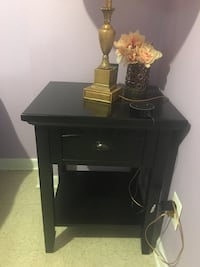 black wooden single-drawer end table Silver Spring, 20906