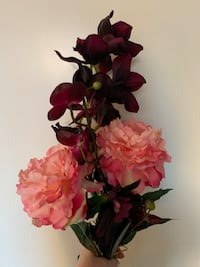 Peony and Orchid Silk Flowers