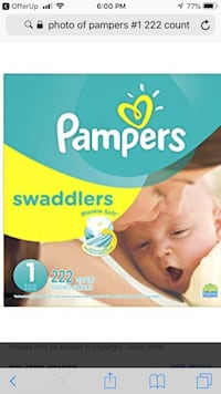 Pampers Swaddlers disposable diaper box Waldorf, 20602